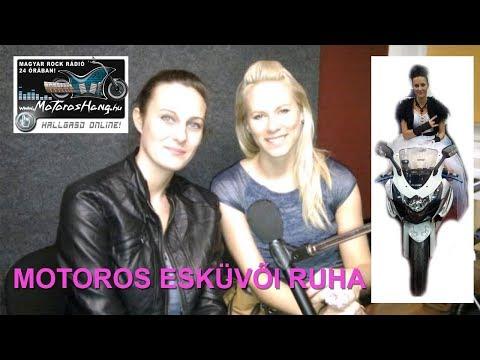 Kis Anita és Kovacs Erika Judit a motoros esküvői ruháról