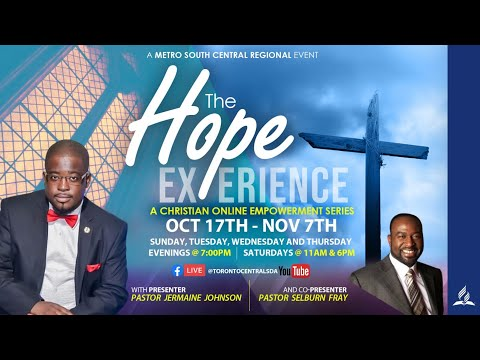 #TheHopeExperience - A Metro South Central Region Series  - 10/20/2020