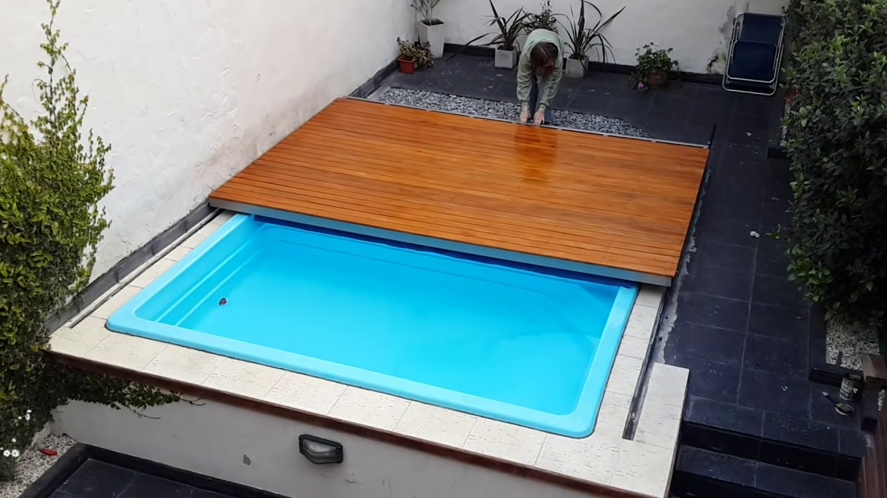 Deck corredizo pileta youtube for Pileta jacuzzi exterior