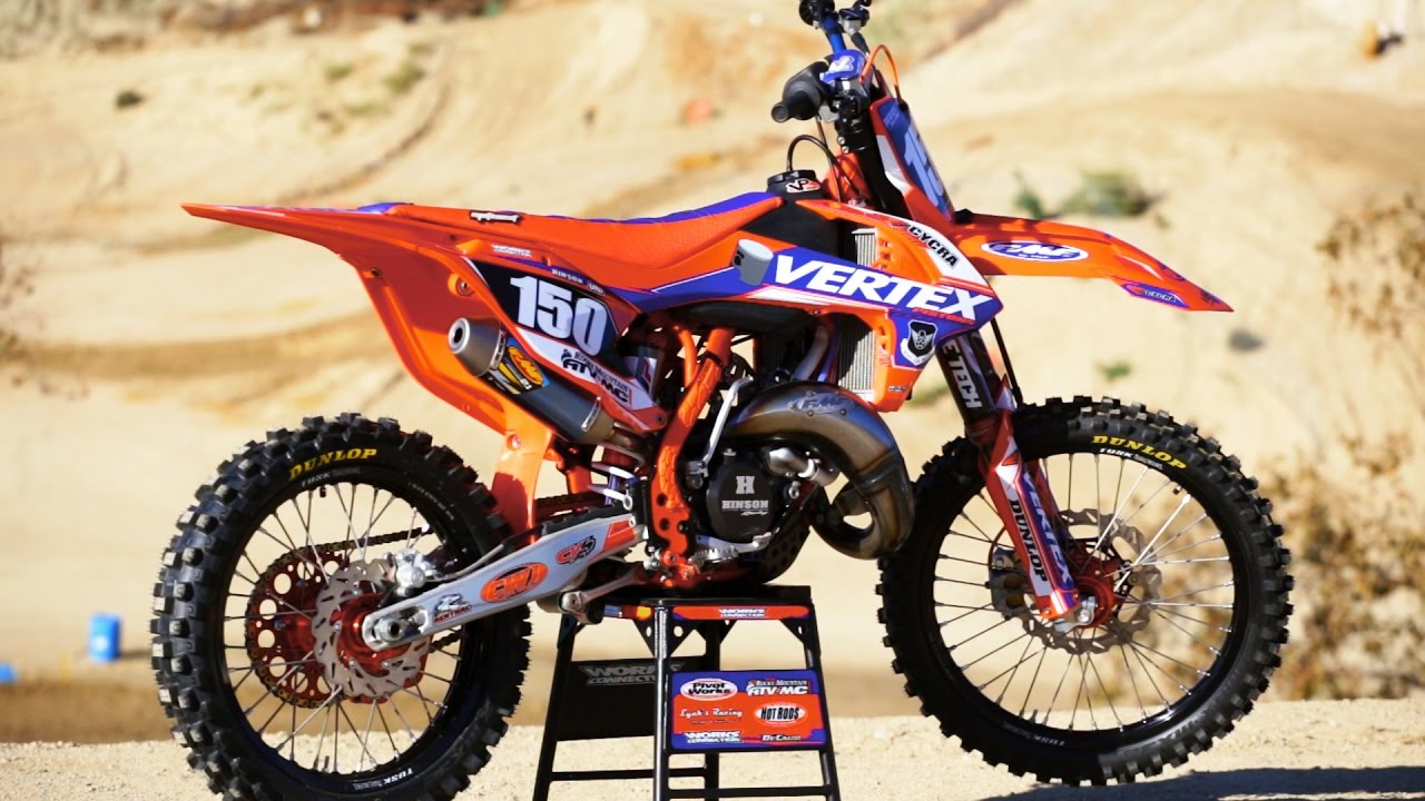 2018 ktm 125. perfect 125 project vertex ktm 150 sx 2 stroke  motocross action magazine youtube on 2018 ktm 125