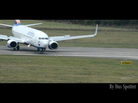 Exit runway NOW | Sun Express Boeing 737 landing at Hannover Airport | Dus Spotter