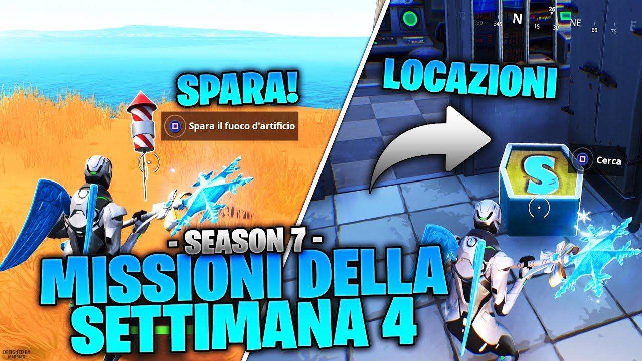 """Download COME COMPLETARE LE SFIDE DELLA SETTIMANA 4 SEASON 7! LOCAZIONI LETTERE """"NOMS"""" & FUOCHI D'ARTIFICIO!"""