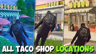 ALL 5 TACO SHOP LOCATIONS IN FORTNITE BATTLE ROYALE | Week 9 Battle Pass Challenges!