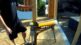 Rockwell Jawhorse And Dewalt Mitre Saw Stand Show And Tell - 28 - My Garage Build Hd Time Lapse