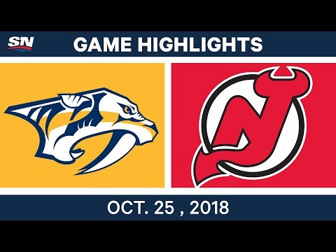 NHL Highlights | Predators vs. Devils - Oct. 25, 2018