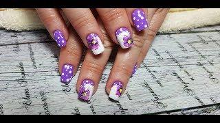 Романтический дизайн ногтей гель-лаком, выполненный в технике аквагель. Идеи модного дизайна ногтей.