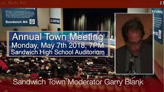 Town Meeting Public Comment Protocol, Sandwich MA