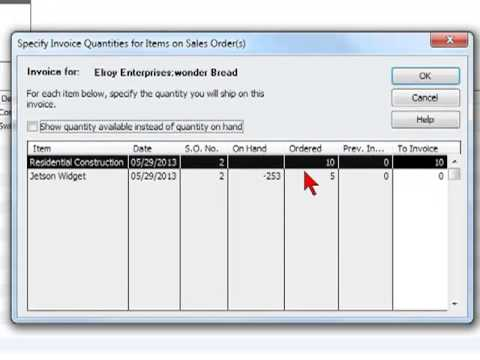 Creating Invoices from Sales Orders - YouTube