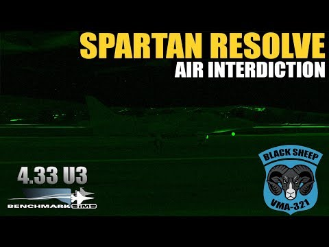[Falcon BMS 4.33] VMA321 Operation Spartan Resolve Mission #30 AI - AV-8B Harriers