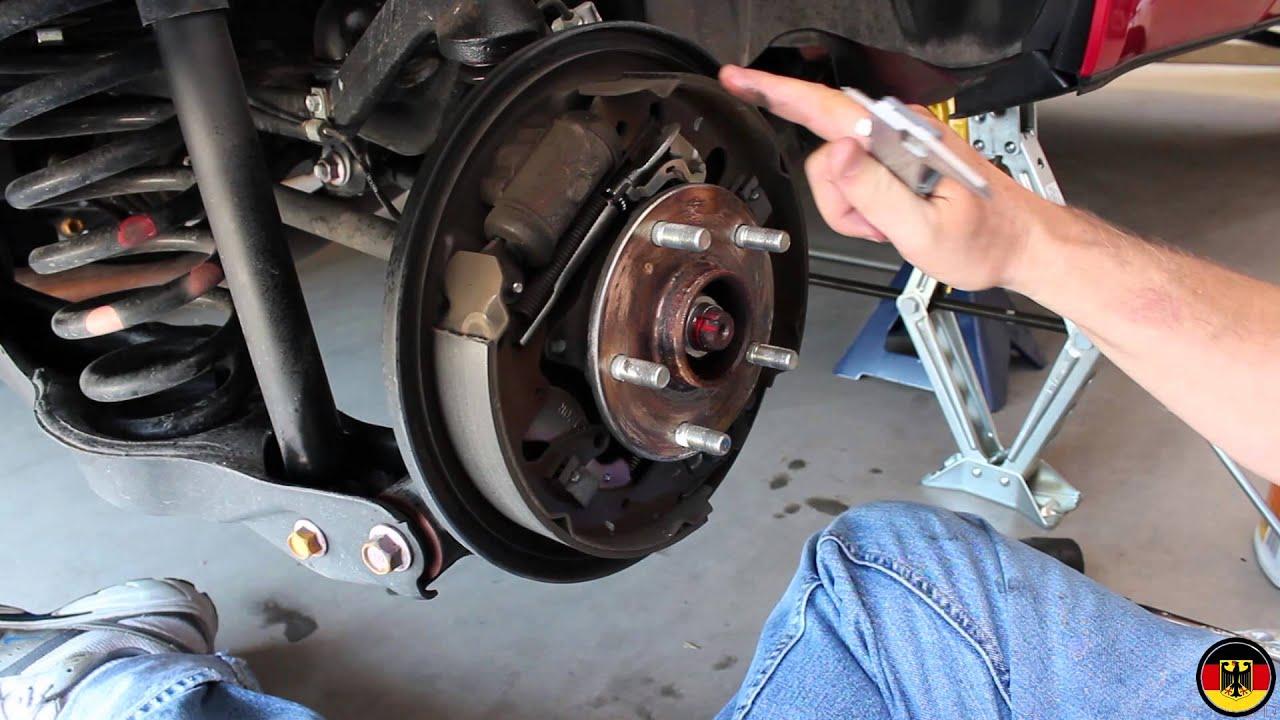 Suzuki Grand Vitara Rear Brake Drum Inspection