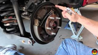 Suzuki Grand Vitara Rear Brake Drum Inspection(Aftermarket brake shoes (OEM no longer available in US): http://amzn.to/1L6DVLa Spring and adjuster kit: http://amzn.to/1QVZyju Brake drums: ..., 2013-07-19T06:14:54.000Z)