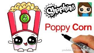How to Draw Poppy Corn Easy   Shopkins