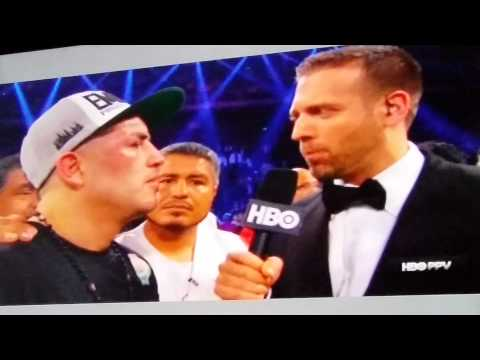 Brandon Rios post fight interview after the fight.