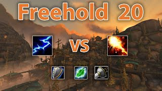 [8.2.5] M+ Elemental Shaman vs Fire Mage | Freehold 20 [ft. Lonelý]