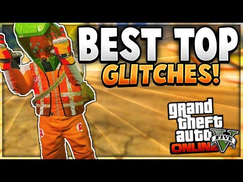 """GTA 5 Online: BEST TOP 5 Glitches! """"After Patch 1.42"""" (Invisible Arms , No Bra & More!)"""