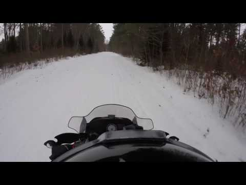 Snowmobiling near Boulder Junction, Wi. Dec.27th 2016