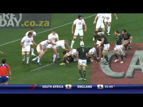 Big Hits, Tackles & Kick without boot : SOUTH AFRICA vs ENGLAND 3rd Test 2012