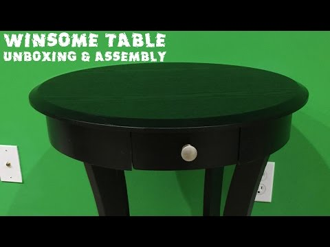 Winsome Wood Round Table with Drawer and Shelf Unboxing & Assembly Video