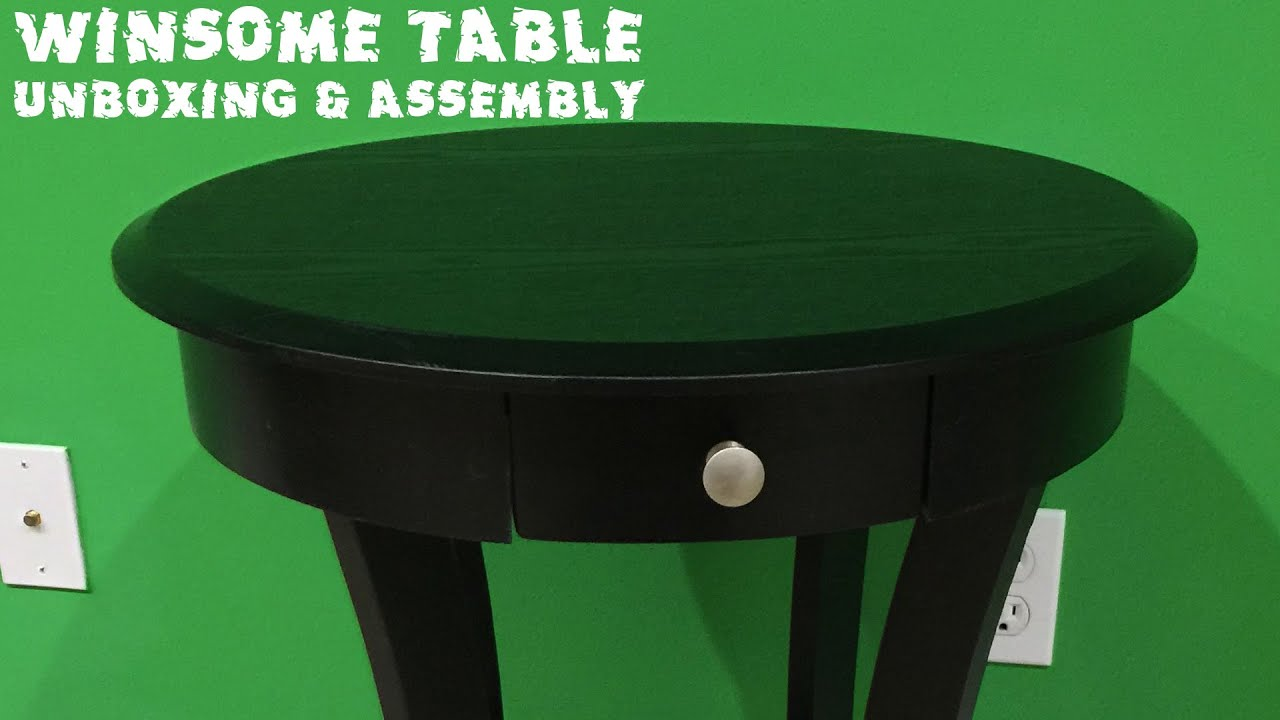 Winsome Wood Round Table With Drawer And Shelf Unboxing U0026 Assembly Video    YouTube