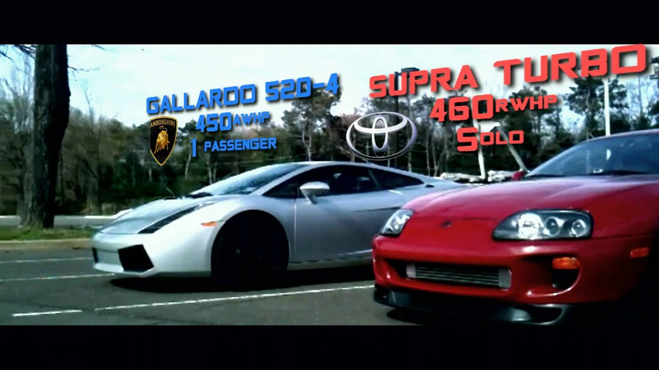 Toyota Supra Turbo Vs Lamborghini Gallardo Youtube