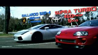 Toyota Supra Turbo vs. Lamborghini Gallardo