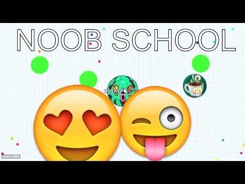 *UNCUT* NOOB SCHOOL IN AGARIO!! // #NEW SERIES!! #CHANCETOPLAYWITHME