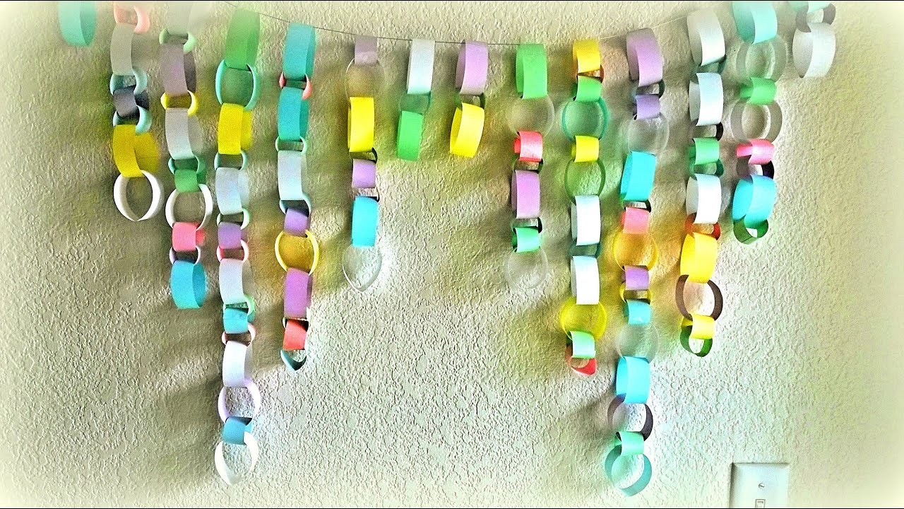 DIY Room Decor: Paper Chains Decoration! - YouTube