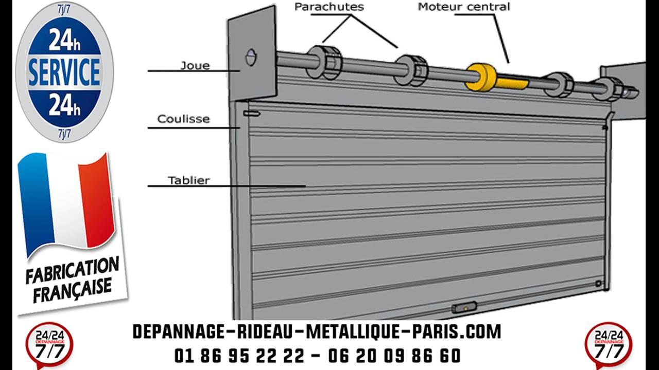 Réparation rideau métallique Paris - YouTube