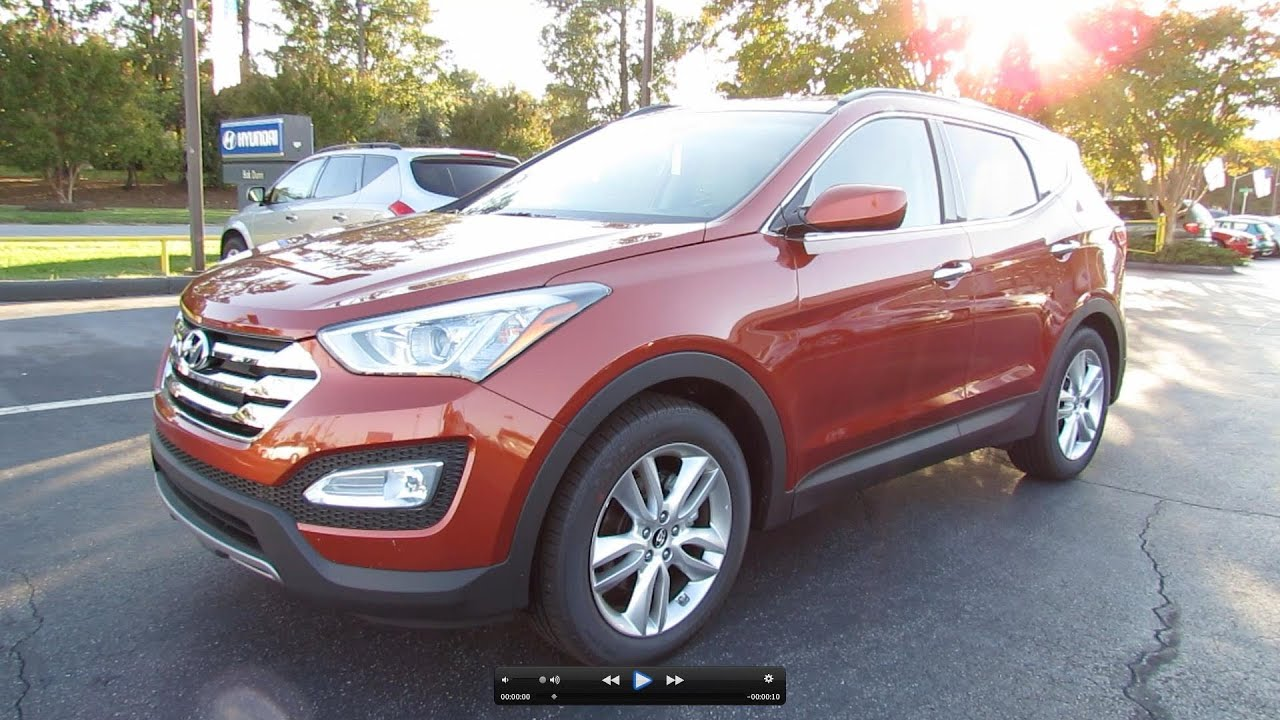 2013 Hyundai Santa Fe Sport 2.0L Turbo Start Up, Exhaust, And In Depth  Review   YouTube