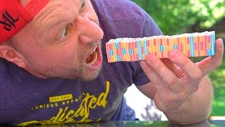 100 LAYERS OF GUM ONE BITE CHALLENGE!