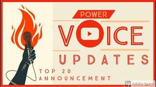POWER VOICE UPDATES: | Top 20 Music Artists | Weekly Battle Teaser