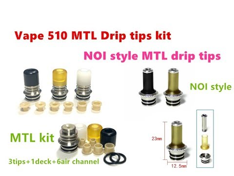 Vape 510 Style MTL Drip Tips Full Kit/NOI Style MTL Drip Tips By Wejoytech
