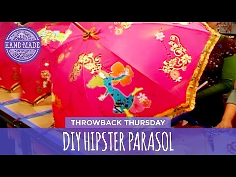 DIY Hipster Parasol - Throwback Thursday - HGTV Handmade