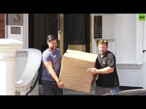 Assange: Boxes removed from Ecuadorian embassy