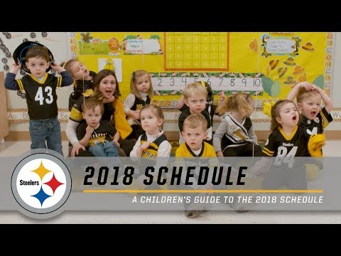 A Children's Guide to the 2018 Steelers' Schedule