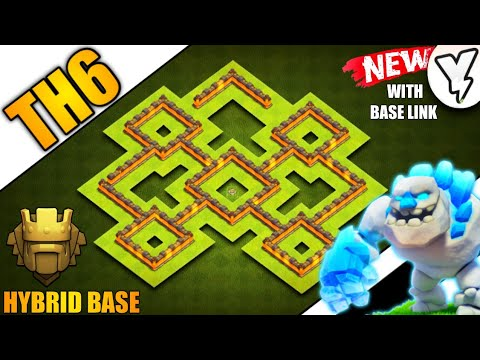 EPIC TOWN HALL 6 [TH6] FARMING/TROPHY BASE 2019!! | NEW BEST TH6 HYBRID BASE!! - CLASH OF CLANS(COC)