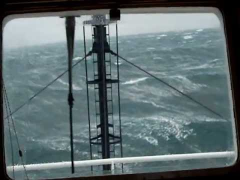 Supply Ship Sailing in a Storm Force 10.wmv