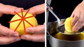 Carve A Star Pattern In The Potato & Drop It In Oil