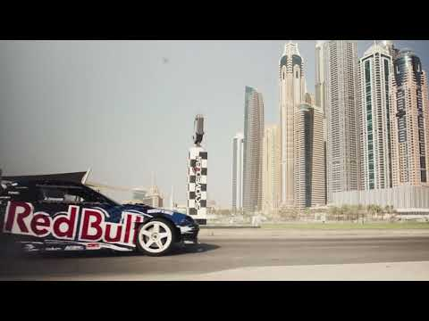 Redbull car drifting on the streets of Dubai!