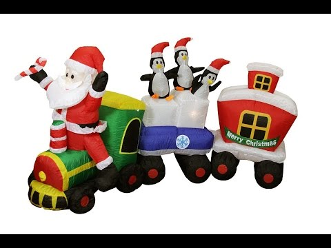Christmas Inflatables Decorations Display Santa Claus Snowman Dinosaur Minions Lowes Home Depot