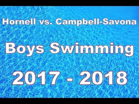 Hornell vs. Campbell-Savona Boys Swim Meet 2017-2018