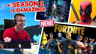 Nick Eh 30's FIRST REACTION to Fortnite Season 2! (Chapter 2)