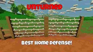 Unturned: Best Home Defense - Barbed Fence (how To Craft)
