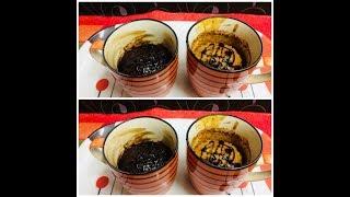 Eggless Mug Cake without oven /Mug Cake on stove top /Vanilla and Chocolate mug cake