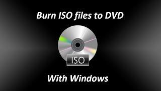Burn ISO files to DVD Windows Bootable