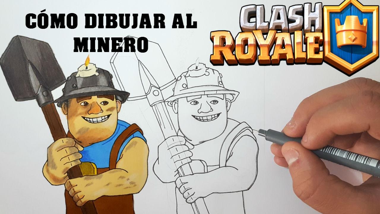 Dibujospara Colorear Clash Royale: Cómo Dibujar Al MINERO De CLASH ROYALE-MagicBocetos