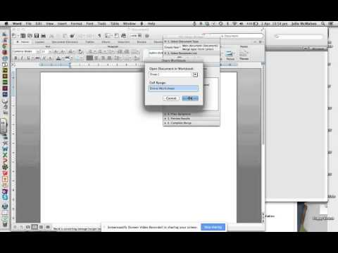 Creating a Mail Merge - File Maker Pro and MS Word
