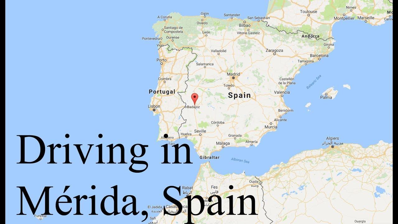 Driving In Spain Downtown Merida Youtube
