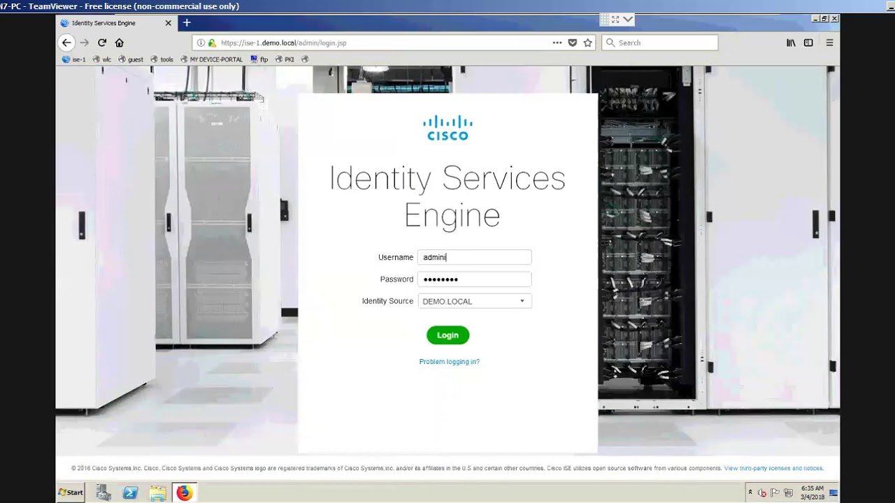 External authentication into Cisco ISE GUI console