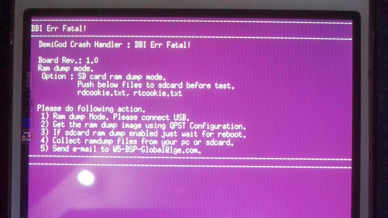 Demigod Crash Handler - Dbi Err Fatal LG L80 D380 (Tutorial)